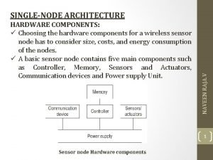 HARDWARE COMPONENTS Choosing the hardware components for a