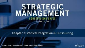 Chapter 7 Vertical Integration Outsourcing Chapter 7 Vertical