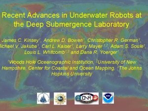 Recent Advances in Underwater Robots at the Deep