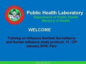 Public Health Laboratory Department of Public Health Ministry