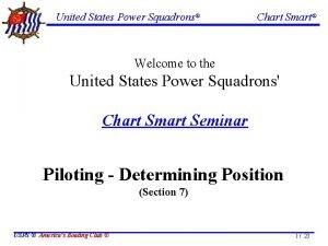 United States Power Squadrons Chart Smart Welcome to