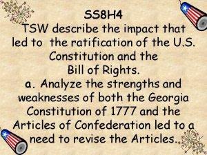 SS 8 H 4 TSW describe the impact