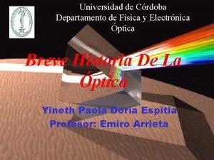 Universidad de Crdoba Departamento de Fsica y Electrnica