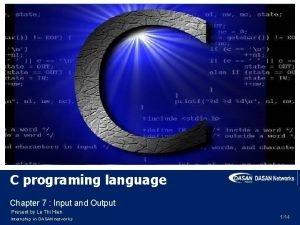C programing language Chapter 7 Input and Output