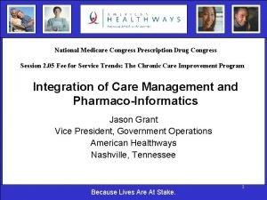 National Medicare Congress Prescription Drug Congress Session 2
