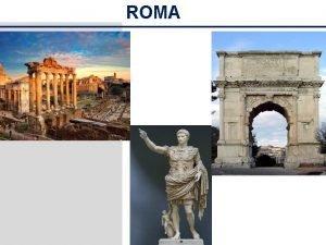 ROMA Unidad 4 El arte roma no Departamento