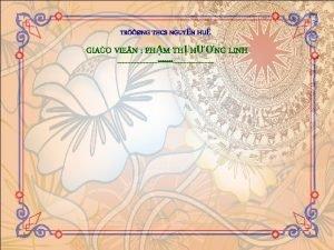 TRNG THCS NGUYN HU GIAO VIE N PHM