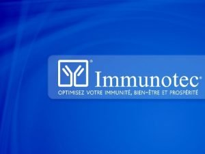 Immunotec Une occasion daffaires de premier ordre appuye