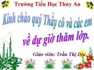 Trng Tiu Hc Thy An Gio vin Trn