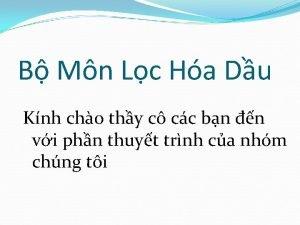 B Mn Lc Ha Du Knh cho thy
