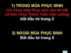 1 TRONG MA PHC SINH T Cha nht