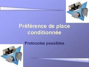Prfrence de place conditionne Protocoles possibles DFINITION LA