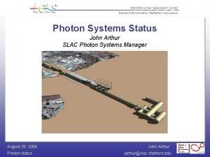 Photon Systems Status John Arthur SLAC Photon Systems