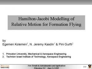 HamiltonJacobi Modelling of Relative Motion for Formation Flying