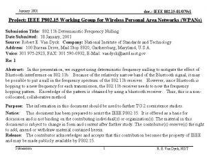January 2001 doc IEEE 802 15 01079 r