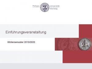 Einfhrungsveranstaltung Wintersemester 20192020 Die Ausbildung zum Juristen Studium