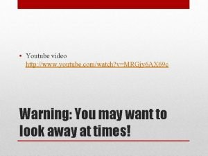 Youtube video http www youtube comwatch vMRGjy 6