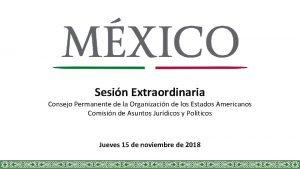 Sesin Extraordinaria Consejo Permanente de la Organizacin de