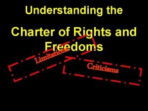 Understanding the Charter of Rights and Freedoms s