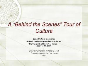 A Behind the Scenes Tour of Cultura Second