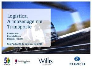 Logstica Armazenagem e Transporte Paulo Alves Ricardo Beyer