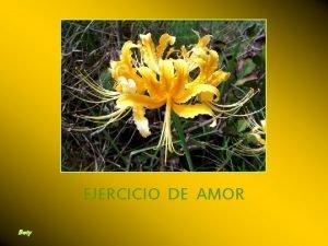 EJERCICIO DE AMOR Bety Mostrar mi amor siendo