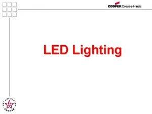 LED Lighting Agenda Introductions Lighting Definitions LEDs Benefits