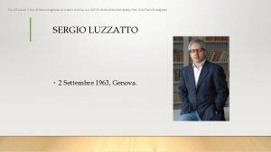 Luca Piccinali Corso di laurea magistrale in scienze