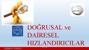 DORUSAL ve DARESEL HIZLANDIRICILAR FERHAT YILDIZ TTP 8