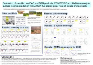 Evaluation of satellite Land SAF and SRB products