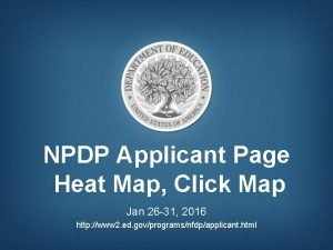 NPDP Applicant Page Heat Map Click Map Jan