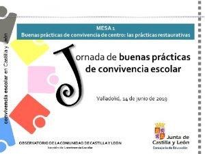 Jornada de buenas prcticas de convivencia escolar Valladolid