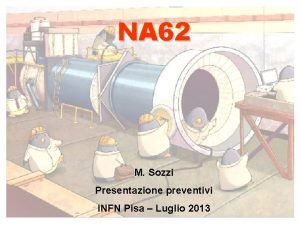 NA 62 M Sozzi Presentazione preventivi INFN Pisa
