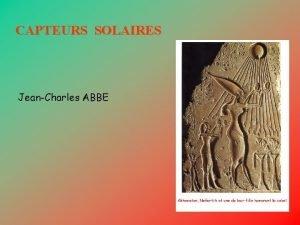 CAPTEURS SOLAIRES JeanCharles ABBE Rayonnement solaire global quotidien