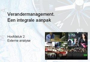Verandermanagement Een integrale aanpak Hoofdstuk 2 Externe analyse