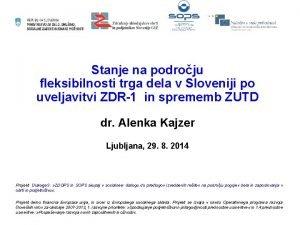Stanje na podroju fleksibilnosti trga dela v Sloveniji