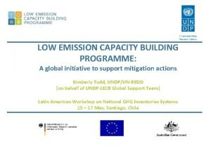 LOW EMISSION CAPACITY BUILDING PROGRAMME A global initiative
