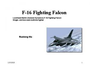 F16 Fighting Falcon Lockheed Martin General Dynamics F16