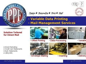 Design Personalize Print Mail Variable Data Printing Mail