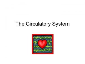 The Circulatory System Function of the circulatory system