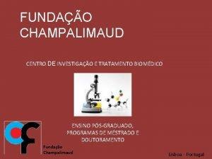 FUNDAO CHAMPALIMAUD CENTRO DE INVESTIGAO E TRATAMENTO BIOMDICO