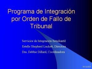 Programa de Integracin por Orden de Fallo de