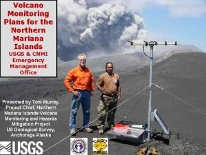 Volcano Monitoring Plans for the Northern Mariana Islands