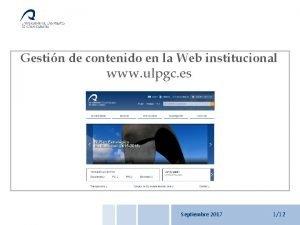 Web institucional Gestin de contenido Introduccin Gestin de