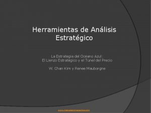 Herramientas de Anlisis Estratgico La Estrategia del Ocano