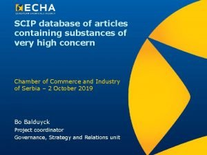 SCIP database of articles containing substances of very