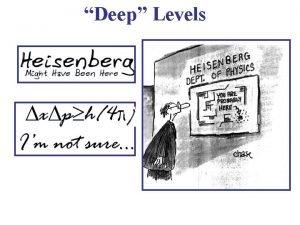 Deep Levels Deep Levels Deep Centers Deep Traps