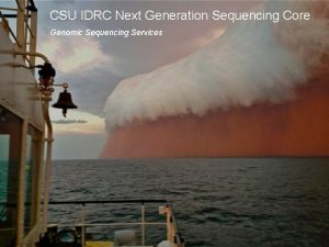 CSU IDRC Next Generation Sequencing Core Genomic Sequencing