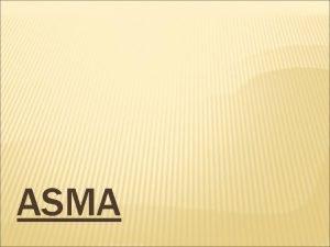 ASMA CONCEPTO El asma es una enfermedad crnica