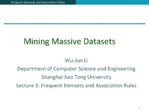 Frequent Itemsets and Association Rules Mining Massive Datasets